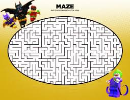 free printable lego maze ideas for an awesome the lego batman movie party inspired by the