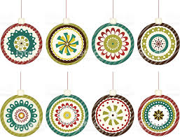retro christmas ornaments stock vector art 165604896 istock