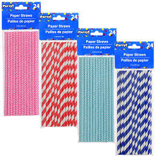 paper straws bulk fashioned paper straws 24 ct packs at dollartree