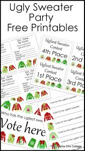 ugly sweater party free printables the country chic cottage
