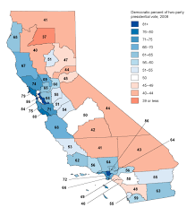 map of california california s political geography policy institute of
