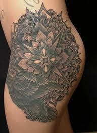 jeff johnson tattoo tattoos dark skin dotwork crow and