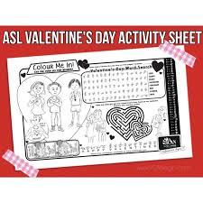 printable valentine u0027s day activity with sign language