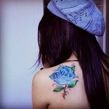 small blue rose tattoo shoulder ideas tattoo designs