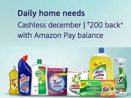 household needs daily home needs products extra rs 200 back using amazon pay balance
