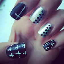 my cross u0026 studs nail design youtube