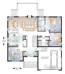modern home floor plan w3280 v1 modern home design master ensuite open floor plan