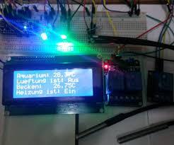 arduino thermostat with 2x ds18b20 i2c 4x16 display 2 rgb led u0027s