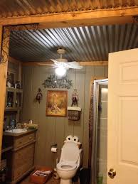 ceiling ideas for bathroom like the roof barn tin bathroom ceiling homysweety