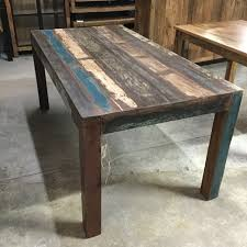 reclaimed wood outdoor table reclaimed wood dining table nadeau new orleans
