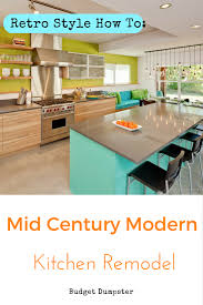 small kitchen renovation get a mid century modern kitchen