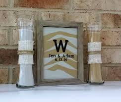 Heart Shaped Sand Ceremony Vase Set Personalized Rustic Barn Wood Wedding Sand Ceremony Frame Set With