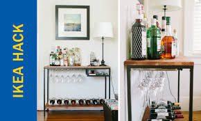 ikea bar hack awesome ikea hack of the week a functional rustic bar cart