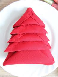 tree napkin folding two minutes tutorial