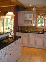 white kitchen in log home home decor my dream home pinterest