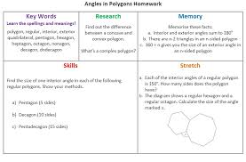 Interior Angle Sum Of A Decagon Shape Mathematics Pret Homeworks