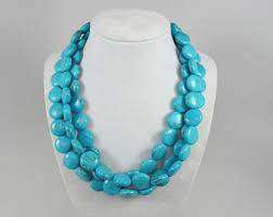 turquoise necklace images Chunky turquoise necklace etsy jpg