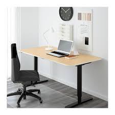 Ikea Desk Stand Bekant Desk Sit Stand Birch Veneer Black Ikea