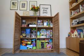 kids reading bench cupboard idyllic toy storage ideas toddler toys taking over your