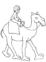 a man riding camel coloring page download u0026 print online
