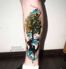 calf tree watercolor watercolor tattoos