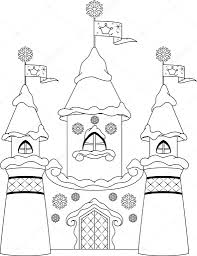 castle coloring page u2014 stock vector malyaka 54612951