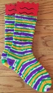 mardi gras socks rhythm of the needles 02 17