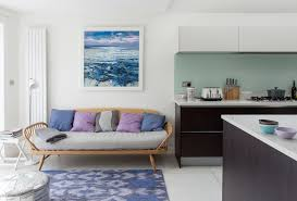 analogous color scheme with modern kitchen living room