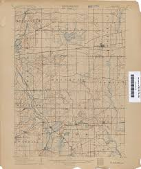 Wisconsin Lakes Map by