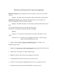 appositive practice worksheet the best and most comprehensive