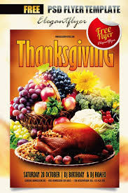 21 thanksgiving flyer designs psd jpg ai illustrator