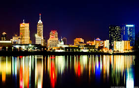 city lights on the water indianapolis skyline white rive flickr