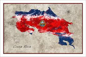Ican Flag Costa Rica Map Costa Rica Map Of Costa Rica Costa Rica Flag