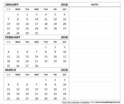 3 month calendar archives template to print