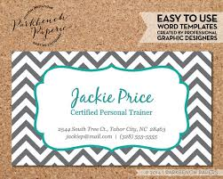 business card template gray chevron teal frame diy