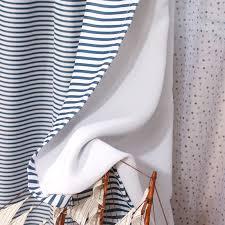 Nautical Striped Curtains Blue White Striped Nautical Curtains For Kids