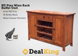 nz pine buffet wine rack