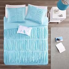 light blue girls bedding teen girls bedding comforter set light baby blue aqua ruched twin