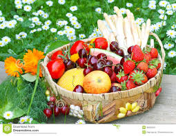 fruit and vegetable baskets fruit and vegetables stock photography image 35005242