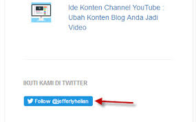 membuat widget twitter di website menambahkan widget twitter di blog jefferly super club