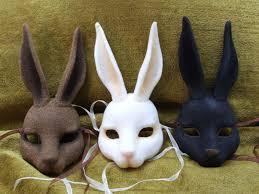 bunny mask bunny gas mask apocalyptic masking bunny and creepy