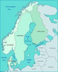 map of europe scandinavia map of scandinavia