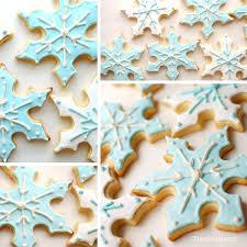 snowflake cookies royal icing recipe snowflake cut out cookies