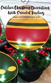 Large Outdoor Christmas Decorations by Outdoor Christmas Decorations With Oriental Trading