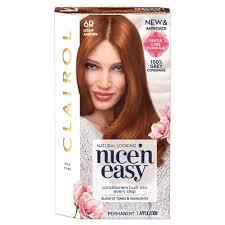 clairol nice n easy natural light auburn clairol nice n easy hair dye light auburn 6r buy online in
