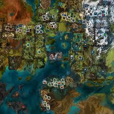 Gw2 World Map by Gw2nodes Node Locations