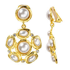 pearl clip on earrings by price highest to lowest clip on evening earrings gale grant