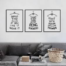 pattern fashion quotes black white minimalist typography fashion beauty quotes art print