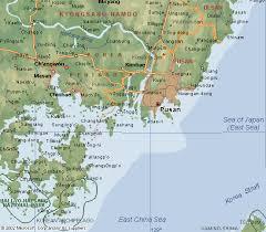 pusan on map maps of pusan