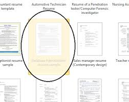Resume Template Microsoft Word How To Get To Resume Templates On Microsoft Word 2010 Functional